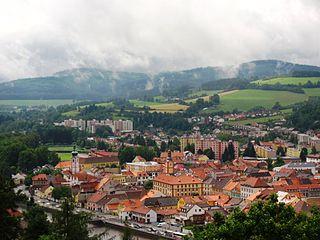 Sušice Town in Plzeň, Czech Republic