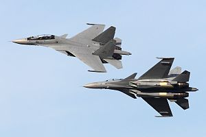 Royal Malaysian Air Force - RMAF Sukhoi Su-30MKMs seen from top and bottom