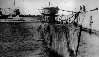 Argentina during World War II - The German submarine U-977 moored at Mar del Plata, after being surrendered to the Argentine Navy in August 1945.