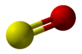 Ball and stick model of sulfur monoxide