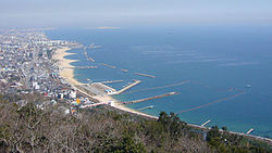View of Suma Beach from Mount Sumaura Amusement Park
