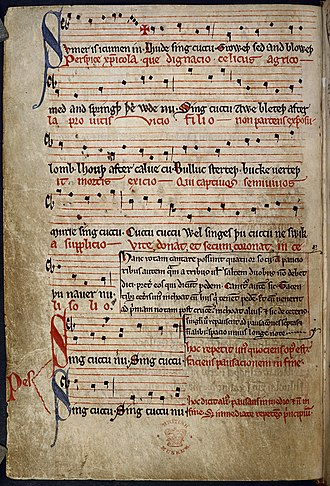 Sumer Is Icumen In - Image: Sumer is icumen in Summer Canon (Reading Rota) (mid 13th C), f.11v BL Harley MS 978