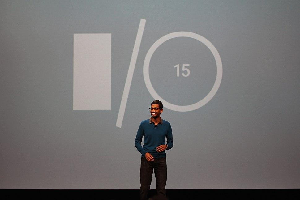 Sundar Pichai at Google IO 2015