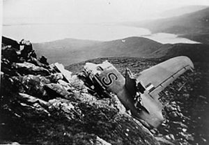 Mount Brandon - Wreckage of Sunderland Aircraft, Faha Ridge 1943.