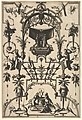Surface Decoration, Grotesque with Strapwork and Pergolas, Burial Scene above center from Veelderleij Veranderinghe van grotissen ende Compertimenten...Libro Primo MET DP823075.jpg