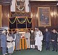 Sushil Kumar Shinde, the Deputy Speaker of Lok Sabha, Shri Kariya Munda and other dignitaries after paying floral tributes to Netaji Subhas Chandra Bose on his birth anniversary, at Parliament House in New Delhi.jpg