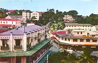 Suva - Suva Central Business District in the 1950s