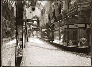 The Strand Arcade - The Strand Arcade in 1937, in the aftermath of a gunshot.
