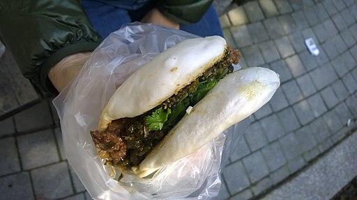 刈包 sliced pork bun