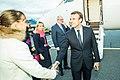 Tallinn Digital Summit. Airport arrivals HoSG Emmanuel Macron (37117760560).jpg