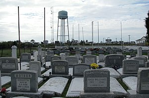 Tangier, Virginia - A typical cemetery on the island, showing overcrowding