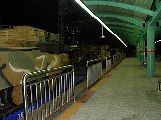 Sungkyunkwan University station - Image: Tanks at Sungkyunkwan University Station