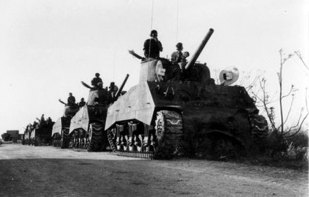 Sherman tanks of the Israeli 8th Armoured Brigade, 1948 Tanks of the Israeli 8th Armoured Brigade (1948).jpg