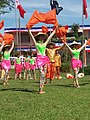Teachers performing at the 2017 Philippine Independence Day Celebration in Minalabac, Camarines Sur.jpg