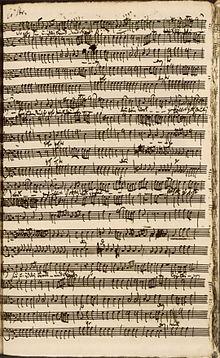 Schlusschor des Oratorios der Kapitänsmusik (1730) (Quelle: Wikimedia)