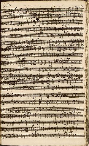 Kapitänsmusik - Manuscript score of So gehe hin und iß dein Brot mit Freuden (Kapitänsmusik oratorio, 1730)