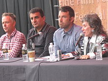 Photo of the director at a panel at the Telluride Film Festival, 2 September 2012.