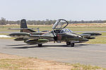 Temora Aviation Museum (VH-DLO) Cessna A-37B Dragonfly taxiing during the 2015 Warbirds Downunder Airshow at Temora (1).jpg