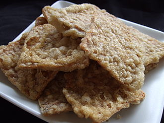 Tempeh - Fried tempeh as a snack, product of Bandung, West Java, Indonesia