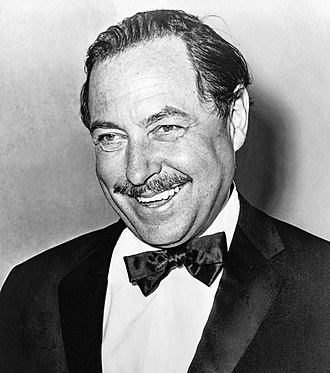 Tennessee Williams - Tennessee Williams (age 54) photographed by Orland Fernandez in 1965 for the 20th anniversary of The Glass Menagerie