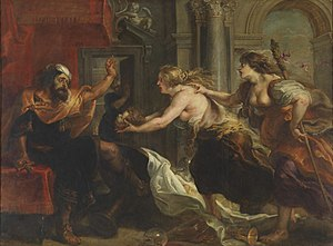 Titus Andronicus - Tereus Confronted with the Head of his Son Itylus (1637) by Peter Paul Rubens