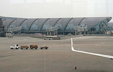 Chengdu Shuangliu International Airport Terminal 2 building construction