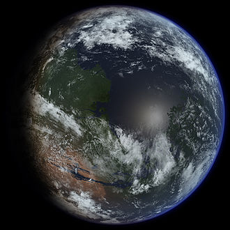 Colonization of Mars - An artist's conception of a terraformed Mars (2009)