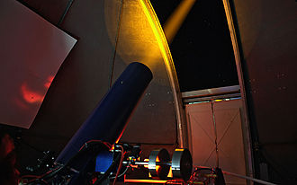 Teide Observatory - Testing laser systems on the ESO Wendelstein Laser Guide Star system.