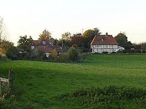 Teynham - Teynham Street, conservation area surrounded by farmland