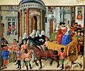 Théséide - Vidobo2617 39r - Thésée entrant en triomphe dans Athènes.jpg