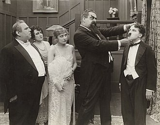 Marta Golden - Henry Bergman, Marta Golden, Edna Purviance, Eric Campbell and Charlie Chaplin (left to right) in The Adventurer