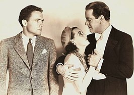 v.l.n.r. Frank Albertson, Sally O'Neil en Alan Dinehart in The Brat