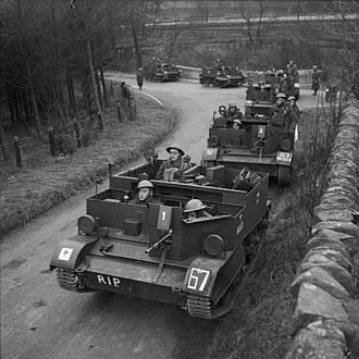 46th Infantry Division (United Kingdom) - Universal carriers of the 2/5th Battalion, Leicestershire Regiment in Scotland, 5 December 1940.
