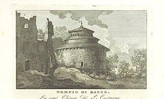 Il Mausoleo in una pubblicazione del 1820