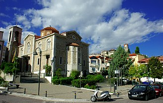 Livadeia - View of the Cathedral (St George) of the city