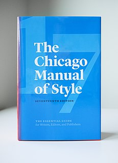 <i>The Chicago Manual of Style</i> Academic style guide by University of Chicago Press