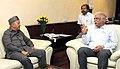 The Chief Minister of Himachal Pradesh, Shri Virbhadra Singh meeting the Union Minister for Civil Aviation, Shri Ashok Gajapathi Raju Pusapati, in New Delhi on May 20, 2015.jpg