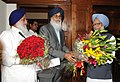The Chief Minister of Punjab, Shri Prakash Singh Badal meeting the Prime Minister, Dr. Manmohan Singh, in New Delhi on March 20, 2012.jpg