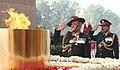 The Chief of Army Staff, General Bipin Rawat paying homage at Amar Jawan Jyoti, India Gate, in New Delhi on January 01, 2017.jpg
