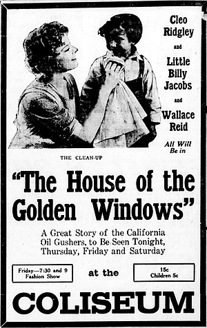 The House with the Golden Windows - Newspaper advertisement