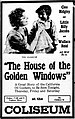 The House with the Golden Windows - 1916 - newspaperad.jpg