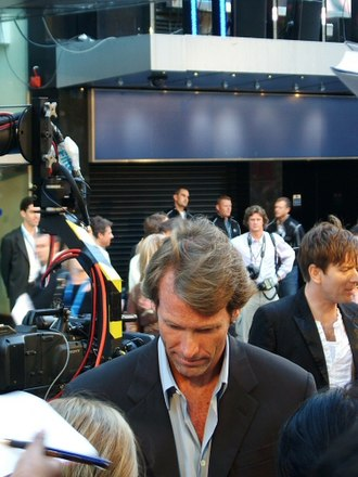 The Island (2005 film) - Director Michael Bay at the premiere of The Island on August 7, 2005