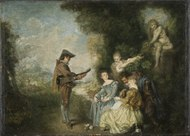 The Love Lesson (Antoine Watteau) - Nationalmuseum - 22065.tif