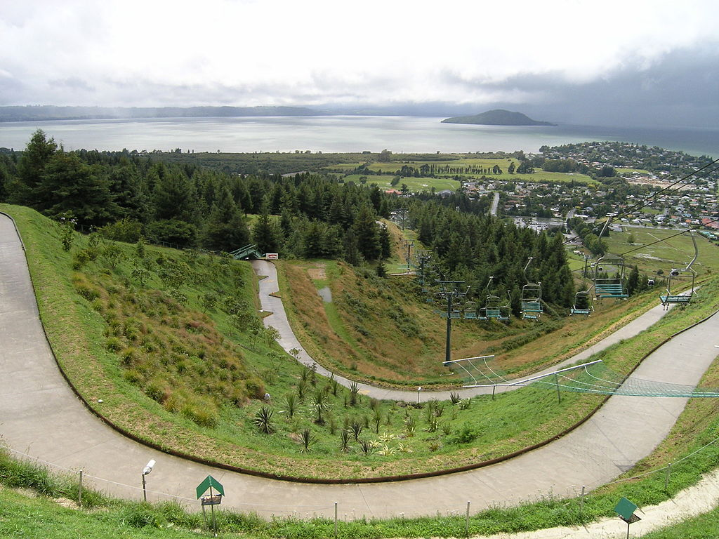 The Luge track from the Gondala above2 - Rotorua (112997063)