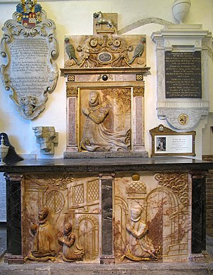 Lumley Chapel - Monument of Jane Lumley