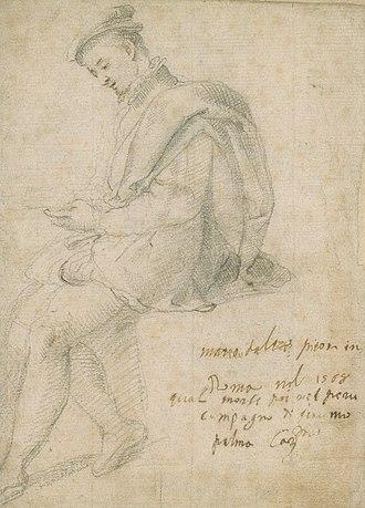Matteo Pérez - The Painter Matteo da Lecce (attributed to Palma il Giovane, 1568)