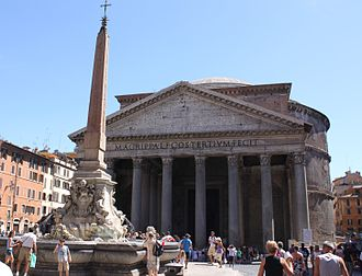 Italians - The Pantheon and the Fontana del Pantheon. Roman relics and Roman culture are important national symbols in Italy.