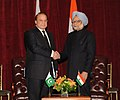 The Prime Minister, Dr. Manmohan Singh in a bilateral meeting with the Prime Minister of Pakistan, Mr. Nawaz Sharif, in New York on September 29 2013.jpg