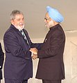 The Prime Minister, Dr. Manmohan Singh meeting the President of Brazil, Mr. Lula da Silva on the sidelines of BRIC and IBSA Summits, in Brasilia, Brazil on April 15, 2010 (1).jpg
