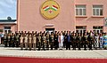 The Prime Minister, Shri Narendra Modi and the President of Tajikistan, Mr. Emomali Rahmon in a group photo with the personnel of the India-Tajik Friendship Hospital, in Quarghan Teppa, Dushanbe, Tajikistan on July 13, 2015.jpg